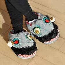 Plusch Zombie Slipper Hausschuhe Pantoffeln Schlappen Schuhe Haus Halloween NEU