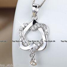 Corazón Plata Esterlina 925 colgante collar cadena joyería de moda regalo Para Ella