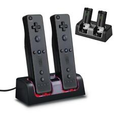 Charger Charging Dock Station + 2 Rechargeable Batteries For Wii Remote Control