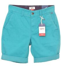 TOMMY HILFIGER JEANS bermuda bleu turquoise homme TJM Essential chino short slim