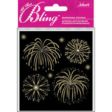 Fireworks Gold Bling  4th Of July Jolee's 3D Sticker