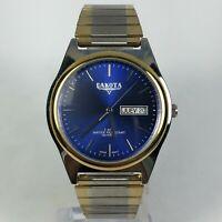 Dakota Mens Silver Gold Tone Stainless Steel Day/Date Quartz Bracelet Wristwatch
