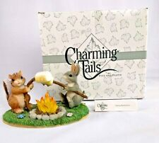 Mib Fitz & Floyd Charming Tails Toasting Marshmallows Camping S'mores Chipmunk