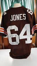 "Joe ""Turkey"" Jones signed Browns Jersey, COA, ""Steeler Killer"""