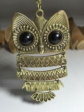 Large Funky OWL Necklace - Antique BRONZE Colour - 3.5 inches - NEW UK Stock