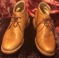 Cole Haan Rust Tone Distressed Leather Desert Chukka Boots Men's US Size 12