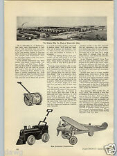 1928 PAPER AD Article Schoenhut Toys Locomotive Airplane Humpty Dumpty Circus