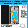 GENUINE HUAWEI MATE 20 LITE SNE-LX1 DISPLAY LCD TOUCH WITH BLACK FRAME HOUSING