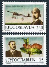 Yugoslavia 2093-2094,MNH.Mi 2473-2474. Otto Lilienthal's 1st gilder flight,1991.