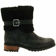 UGG® AUSTRALIA BLAYRE II LEATHER ZIP UP ANKLE BOOTS UK 4.5 EUR 37 USA 6 RRP £195