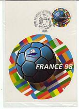 CP 1er jour 28/2/1998 Coupe du Monde de Football / 3 F / sous blister non ouvert