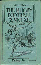 RUGBY FOOTBALL ANNUAL BOOK 1929-1930 - RUGBY UNION INFORMATION ENGLAND WALES ETC
