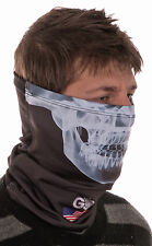 GO Athletic's SKULL Face Head Buff/Neck Gaiter cold weather gear-thermal fabric
