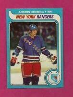 1979-80 TOPPS # 240 RANGERS ANDERS HEDBERG   NRMT-MT  CARD (INV# A2222)