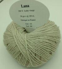 10 pelotes 100 % pure laine couleur sable / Fabriqué en FRANCE