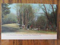 Vintage Postcard Wissahickon Driveway Fairmount Park Philadelphia Pennsylvania