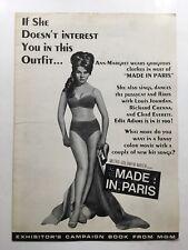 MADE IN PARIS Pressbook 1966 16Pages 12x17 Ann Margret 883