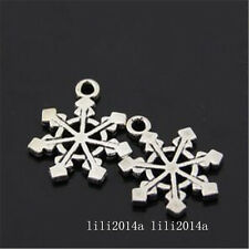 20pc Tibetan Silver Charms Christmas Snowflake Pendant Beads Accessories  PL951