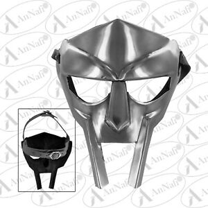 Steel Roman Gladiator Helmet Face Mask MF Doom Medieval Re-enactment Play Drama