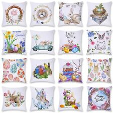 18'' Easter Bunny Polyester Pillow Case Throw Cushion Cover Gift Home Sofa Decor