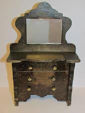 Rare Antique Collectable Victorian Wooden 'Dresser' Money Box