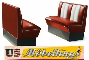 2HW120r American Diner Bench Diner Benches Furniture 50´S USA Style Catering