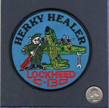 C-130 Hercules  HERKY HEALER USAF Navy USMC Lockheed Squadron Maintenance Patch