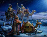 And Wise Men Came Bearing Gifts Tom duBois Religious Christmas Art Print 9x12 💖