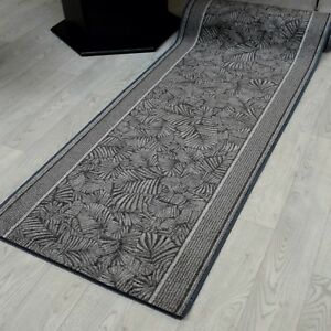 """Eleganter Velours Teppich Läufer 67 cm breit """"BORIMA Fb. 97 Grau"""""""