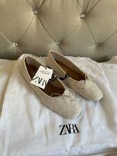 Zara Sand / Beige Ballet Flats 7 / 40