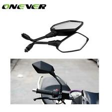 2PCS Universal 10mm Auto Black Motorcycle Rearview Mirrors 360 Degrees Rotatable