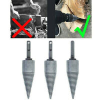 1*Log Splitter Screw Cone Kindling Firewood for Hand Drill Stick Copper 10mm HOT
