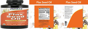 NOW Supplements, Certified Organic Flax Seed Oil Liquid, 12 Fl Oz (Pack of 1)