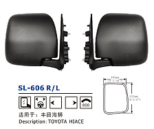 One Pair Manual Front Side Mirror Fors Toyota Hiace Commuter Van 2005-2013