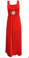 Unbranded Women's No Pattern Sleeveless Full Length Dresses