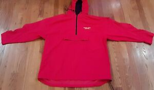 GOLDS GYM RETRO RED TRACK JACKET GYM MEN'S EXTRA LARGE fits like a medium