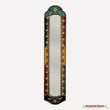 """Long Narrow mirror wall art 35.8""""H, Antique Gold Wood Framed Wall Accent Mirrors"""