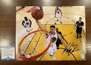 Klay Thompson Autographed 11x14 Photo Golden State Warriors Beckett Fanatics 8
