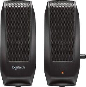 Logitech S120 - 4.4 Watt - 2.0 Stereo Speakers Black (980-000309) For PC and Mac