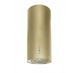 Dunstabzugshaube Inselhaube 40cm Gold-Optik Dunstabzug 850m³/h EEK A LED