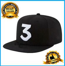Chance The Rapper 3 Black & White Logo High Crown 9fifty Snapback Cap Hip Hop