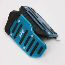 Blue Aluminium Nonslip Brake Clutch Pedal Cover Set Foot Rest for Automatic Cars