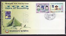 Bangladesh, Scott cat. 721 A-B. 100 Years of Scouting. First Day Cover.