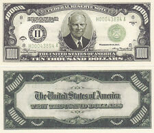 50 Eisenhower $10,000 Patriotic Novelty Bill Note Lot