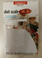 Vintage Diet Scale / Mail Scale! With Calorie Chart! 1988 Fairgrove! Unique Item