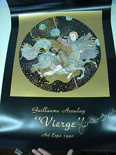 "Guillaume Azoulay ""Vierge"" Commemorative Poster 1990 Art Expo Artist Signed"