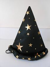 IMAGINARIUM Wizard Hat – Black with Gold Stars Sized to Fit Most 3-6 year olds