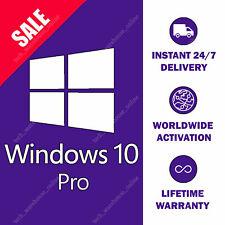 Win 10 Pro 32/64bit Genuine License Key ✅ Lifetime Product ⚡ Instant Activation