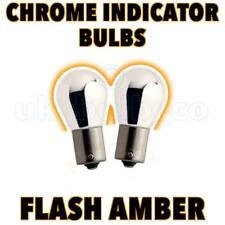 2x Chrome Indicator Bulbs Suzuki Swift II 89->>01  s