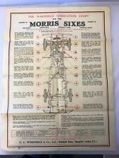 Wakefield Lubrication Chart Series II 16, 18,21 & 23 Morris Sixes 57cm x 43cm